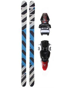 Sierra TT1 V2 Skis w/ Fischer X 13 Ski Bindings Black/Red