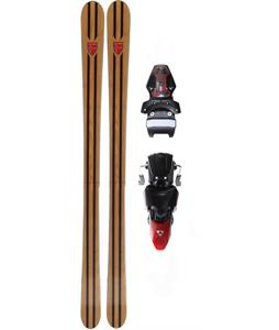 Otnes Old Style Woodie Skis w/ Fischer X 13 Ski Bindings Black/Red