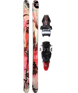 Rossignol S5 Jib Skis w/ Fischer X 13 Ski Bindings Black/Red