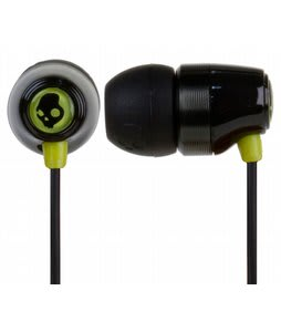 Skullcandy Riot Ear Buds Black/Green  - Discontinued Model