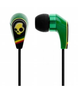 Skullcandy 50/50 w/ Mic 3 Ear Buds Rasta - Discontinued Model