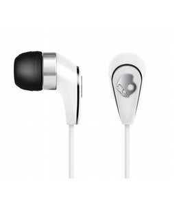 Skullcandy 50/50 w/ Mic 3 Ear Buds White/Chrome - Discontinued Model