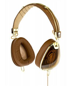 Skullcandy Aviator w/ Mic3 Headphones Brown/Gold