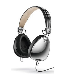 Skullcandy Aviator w/ Mic 3 Headphones Chrome/Black