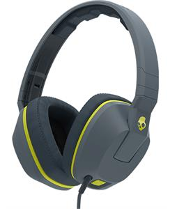 Skullcandy Crusher w/ Mic Headphones Gray/Hot Lime/Hot Lime