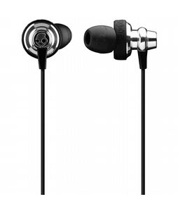 Skullcandy Heavy Metal In Ear w/ Mic 3 Ear Buds Chrome/Black - Discontinued Model