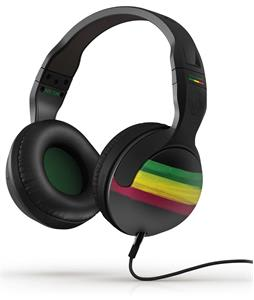 Skullcandy Hesh2 w/ Mic 1 Headphones Rasta/Green/Black