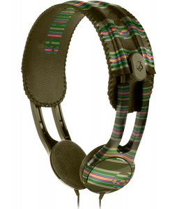 Skullcandy Icon Soft Headphones Brown Stripe - Discontinued Model