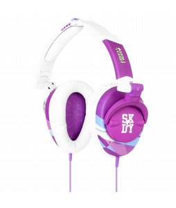 Skullcandy Skullcrushers Headphones Purple/White - Discontinued Model