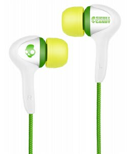 Skullcandy Smokin Buds Earbuds w/ Mic Shoe White - Discontinued Model
