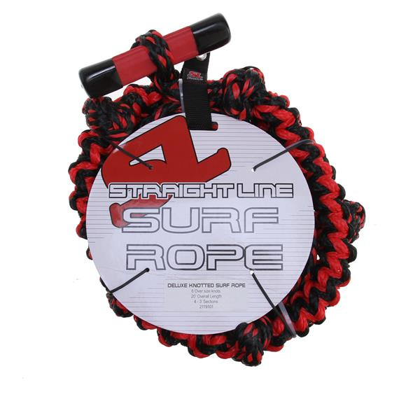 Straight Line Knotted Wake Surf Deluxe Handle/Rope Combo