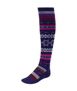 Smartwool Fairview Fairisle Knee High Socks Imperial Purple Heather