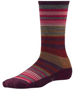 Smartwool Jovian Stripe Socks Aubergine Heather
