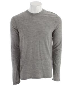 Smartwool Microweight Crew Baselayer Top Silver Gray Heather Stripe