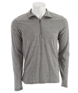 Smartwool Microweight Zip T Baselayer Top Silver Gray Heather Stripe