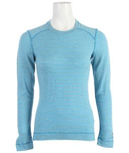Smartwool NTS Mid 250 Pattern Crew Baselayer Top Horizon Blue