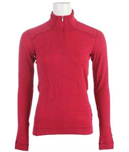 Smartwool NTS Mid 250 Pattern Zip T Baselayer Top Berry Heather