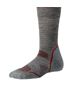 Smartwool PhD Outdoor Light Crew Socks Light Gray