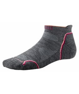 Smartwool Phd Outdoor Light Micro Socks Medium Gray/Coral