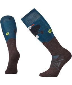 Smartwool PhD Ski Medium: Charley Harper Glacial Bay Eagle Socks