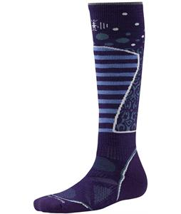 Smartwool PhD Ski Medium Pattern Socks Imperial Purple/White
