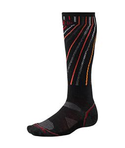 Smartwool PhD Snowboard Light Socks Black/Orange