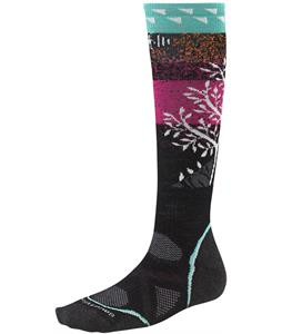 Smartwool PhD Snowboard Medium Socks Black/Punch
