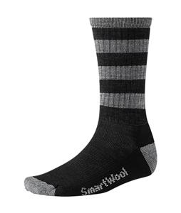 Smartwool Striped Hike Light Crew Socks Black/Medium Gray