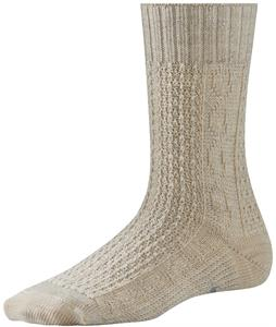 Smartwool Wrapped Metallic Cable Socks Natural Heather