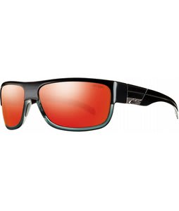 Smith Collective Sunglasses Black Gray/Red Mirror Lens