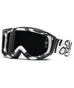 Smith Fuel V.2 Sweat-X M Goggles White Data/Red Mirror Lens