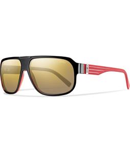Smith Gibson Sunglasses Black Red/Polarized Gold Gradient Lens