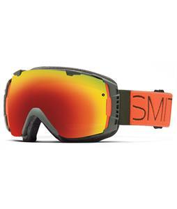 Smith I/O Goggles Cyprus Block/Red Sol-X + Blue Sensor Lens