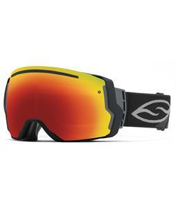 Smith I/O7 Goggles Black/Red Sol-X + Blue Sensor Lens