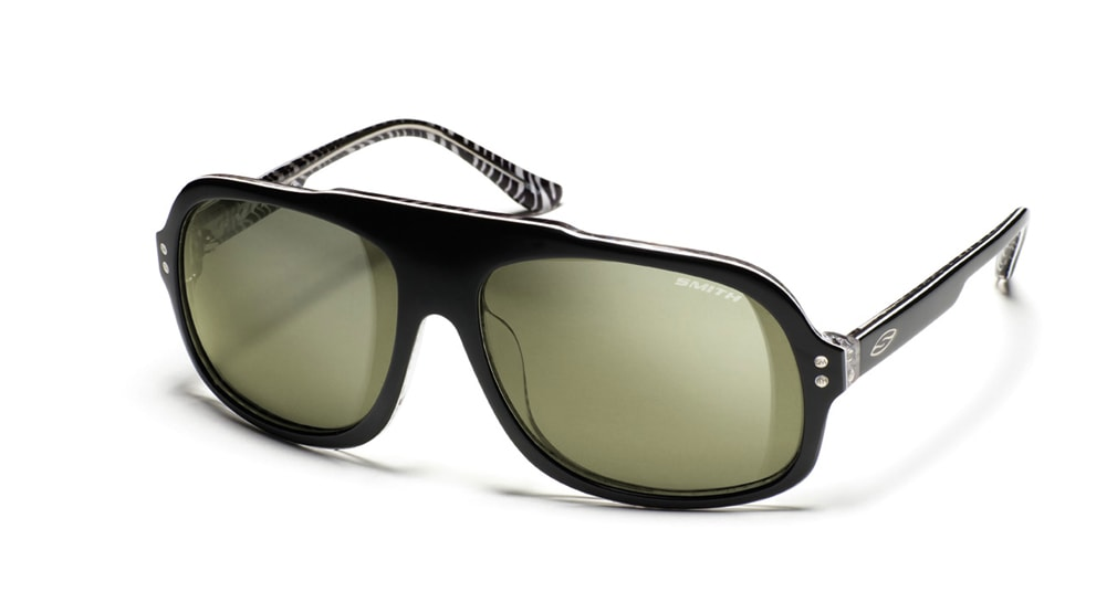 Shop for Smith Nolte Sunglasses Black Zebra/Grey Green Lens - Men's