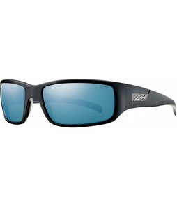 Smith Prospect Sunglasses Matte Black/Polarized Blue Mirror Lens
