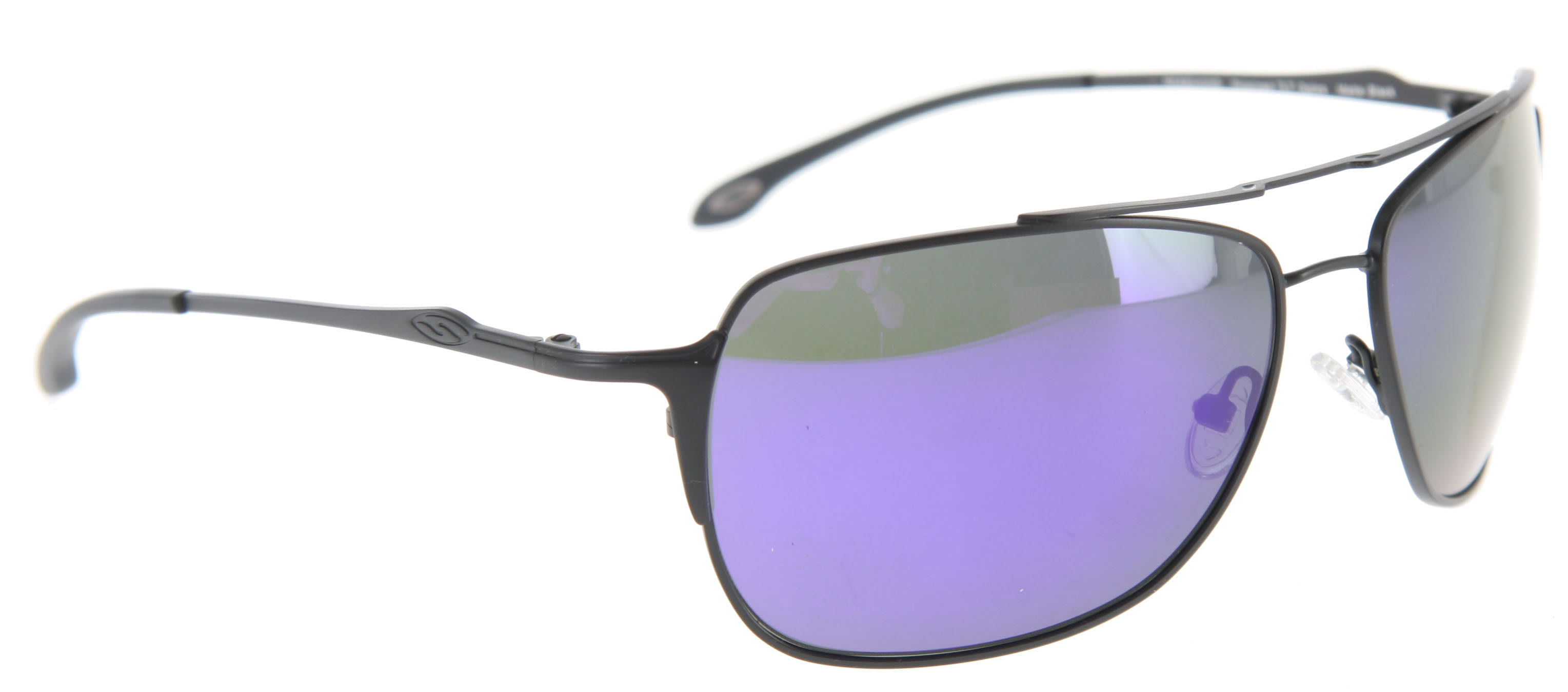 Smith Rosewood Sunglasses Matte Black/Polarized Deep Purple Mirror Lens
