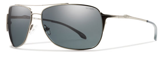 Smith Rosewood Sunglasses Matte Gunmetal/Polarized Gray Lens