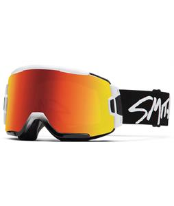 Smith Squad Goggles White/Red Sol-X + Yellow Lens