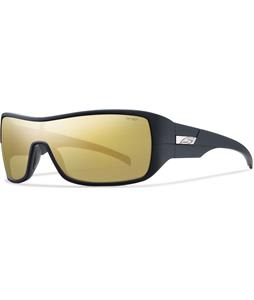 Smith Stronghold Sunglasses Matte Black/Polarized Gold Mirror Lens