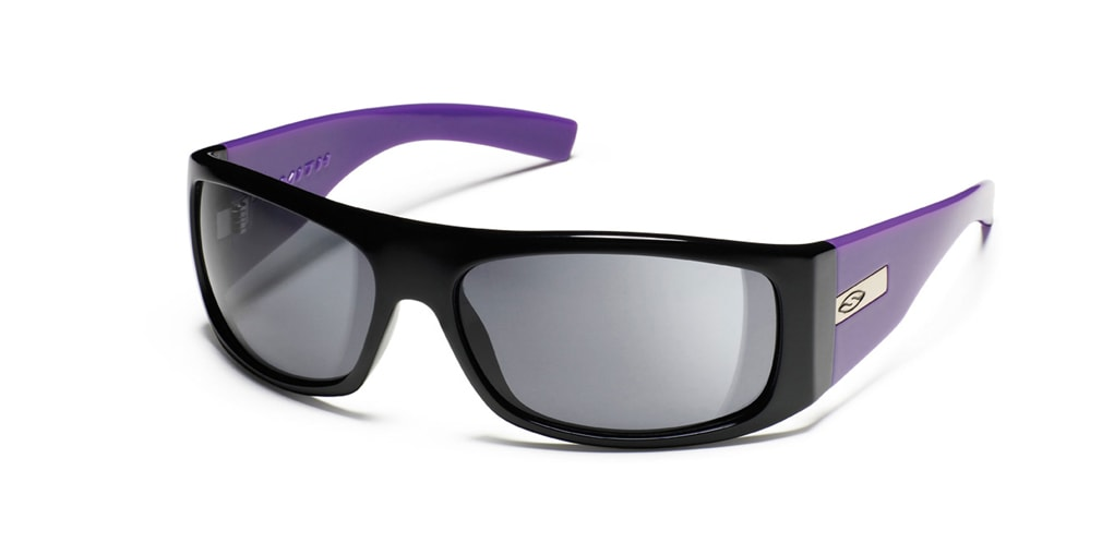 Shop for Smith The Don Sunglasses Black Purple/Grey Lens - Men's