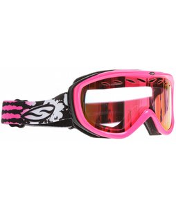 Smith Transit Graphic Goggles Shocking Pink Jungle/Red Sensor Mirror Lens