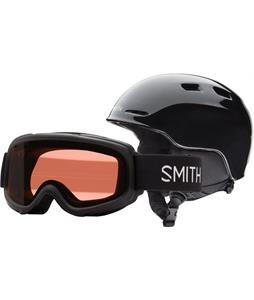 Smith Zoom Jr. w/ Gambler Goggles Snow Helmet