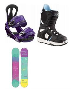 Burton Feather Wide Snowboard w/ Boots & Citzen Bindings