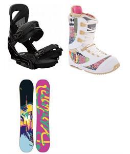 Burton Lip Stick Snowboard w/ Sapphire Boots & Lexa EST Bindings