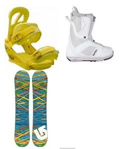 Burton Socail Snowboard w/ Mint Boots & Scribe Bindings