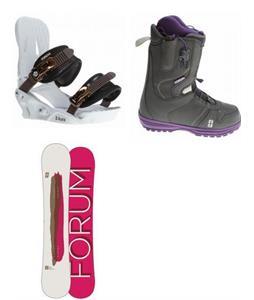 Forum Aura Snowboard w/ Mist Boots & Aura Bindings