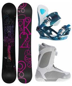 K2 Bright Lite Snowboard w/ Sendit Boots & Yeah Yeah Bindings