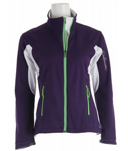 Salomon Active III Softshell Cross Country Ski Jacket Eggplant/White