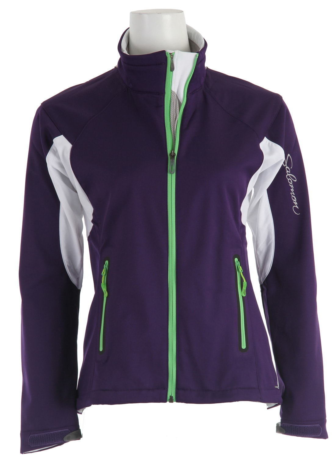Shop for Salomon Active III Softshell Cross Country Ski Jacket Eggplant/White - Women's
